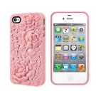 SwitchEasy SW-BLO4S-P Avant-garde Hard Case for iPhone 4 - Blossom - Pink