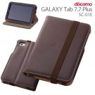 Ray Out - Synthetic Leather Flap Style Cover/Stand for Galaxy Tab 7.7  SC-01E