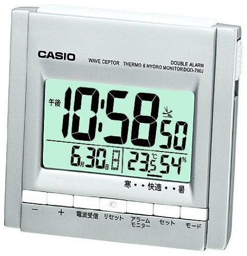 CASIO DQD-700J-8JF view temperature humidity WAVE CEPTOR table clock radio clock