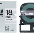 KINGJIM - tepra - tape cartridge - black ink - ST-18K