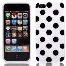 MGM Inc - Polka Dot TPU iPhone 5 Case (White/Black)