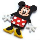 PGA Co. - Disney Minnie Mouse Die-Cut Silicone Cover for iPhone 4S/4