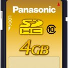 Panasonic 4GB SDHC Class 10 Memory Card RP SDW04GJ1K | 22MB/s transfer trate