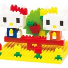 Nanoblock kitty and mimiy Good Friend Park NBH-056 2013 Limited Edition