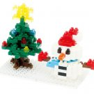 Nanoblock Snowman and Christmas Tree 2013 Nbc-100
