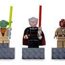 Lego Star Wars Mini Figure Magnet Set - Yoda, Count Dooku, Mace Windu