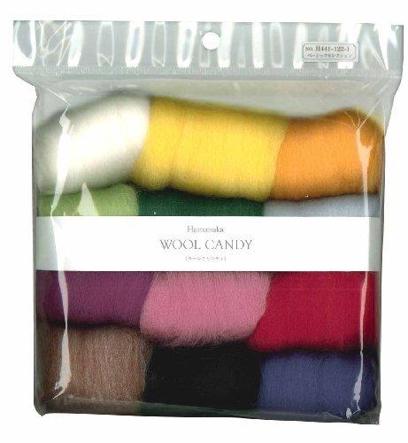 Hamanaka Wool Candy 12 color set (Basic Selection) # 1