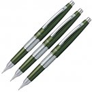 Pentel Sharp Kerry Mechanical Pencil 0.5mm Olive Green Set of 3 Pencils