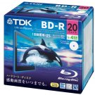 TDK Bluray BDR Disk | 25GB 4x Speed 20 Pack (Japanese Import)
