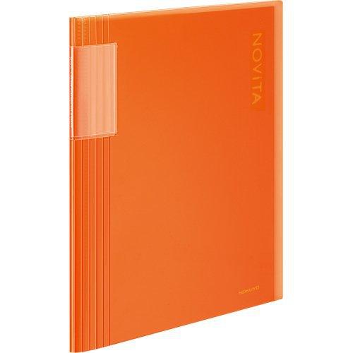 Kokuyo Clear File Noviita A4 Size 40pocket - Orenge