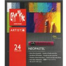 CREATIVE ART MATERIALS - Caran Dache - Neopastel Artist Oil Pastels - Set of 24