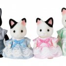 "Epoch Sylvanian Families Sylvanian Family Doll ""FS-05 Family of charcoal cat"""