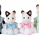 "Epoch Sylvanian Families Sylvanian Family Doll ""FS-05 Family of charcoal cat"""