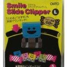 Ohto - Smile Slide Clipper Paper Clip - Large - Vivid Color Set - Pack of 5