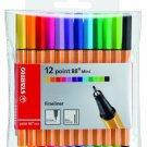 Stabilo Point 88 Pen Sets mini wallet set set of 12