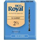 Rico Royal Bb Clarinet Reeds Strength 2.5 10-pack