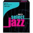 Rico DAddario &Co. Select Jazz Soprano Sax Reeds Unfiled Strength 2 Hard 10-pack