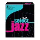 Rico Select Jazz Soprano Sax Reeds/Unfiled/Strength 3 Hard/10 pack