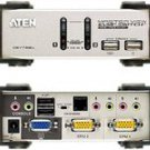 Aten Corp - ATEN - 2-Port USB KVMP Switch with Audio Support/Cables Included