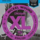 D Addario Co Inc - ESXL120 Nickel Wound Electric Guitar Strings/Super Light