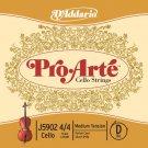 DAddario Pro-Arte Cello Single D String 4/4 Scale Medium Tension
