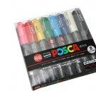 Uni-posca PC-1M Paint Marker Pen - Extra Fine Point - Set of 8