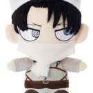 Takara Tomy Attack on Titan Chimi Chara Plushie Cleaning Levi