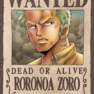 One Piece Roronoa Zoro Wanted Poster Puzzle 150 Piece