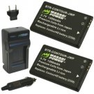 Wasabi Power - Battery (2-Pack) and Charger for Contour