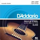 D Addario &Co Inc - EJ40 Silk & Steel Folk Guitar Strings/11-47