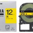 KINGJIM - SC-12Y - tepra pro - tape cartridge - 12 mm -black ink