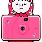 SuperHeadz - Pink Slim Dress Vivitar ultra Wide Lens Camera Series powershovel