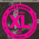 DAddario ENR71SL Half Round Bass Guitar Strings Regular Light 45-100 Super Long