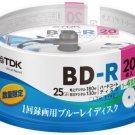 TDK - 20 LTH Bluray 25gb Bd-r 4x Speed Blue Ray Discs Original Spindle