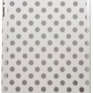 Uniea Deluxe Dot Back Cover (White/Sliver Dot) for The new iPad