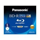 PANASONIC Blu-ray BD-R Disk for PC Data | 25GB 6x Speed | 5 Pack