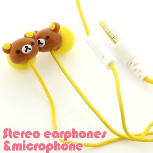 Gourmandise - San-X Rilakkuma Stereo Earphones with Microphone for iPhone/iPod