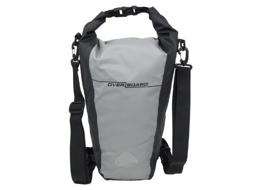 OverBoard Waterproof Pro-Sport Roll-Top SLR Camera Bag Grey/Black 15-Liter
