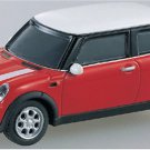 Tomy Tomica Limited 1/64 Scale Diecast Mini Cooper in Color RED with White Top