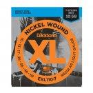 DAddario EXL110-7 7-String Nickel Wound Electric Guitar Strings Regular Light