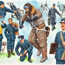 Revell Germany WWII RAF Pilots & Ground Crew (7) 1/48