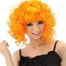 Jig Orange Curl Wig Halloween Costume Party