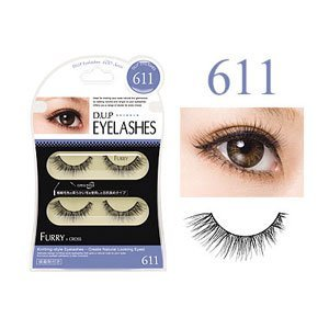 D.U.P Eyelashes FURRY 611 False Eyelash