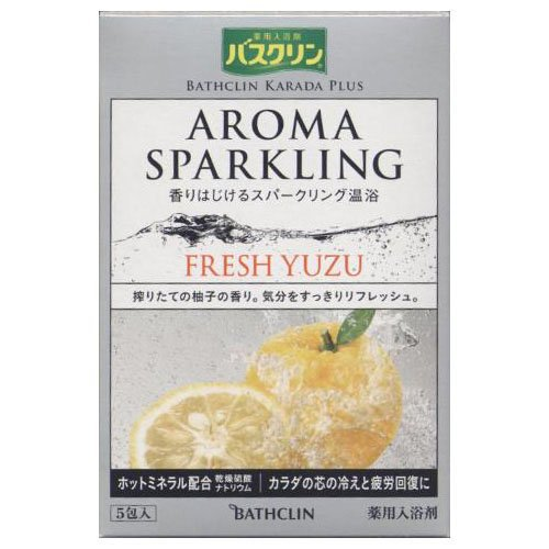 Bathclin Karada Plus Aroma Sparkling Fresh Yuzu Bath Salts Five 30g Packets