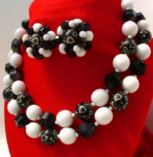 MODERNIST Vintage CASTLECLIFF Atomic BLACK & WHITE Demi