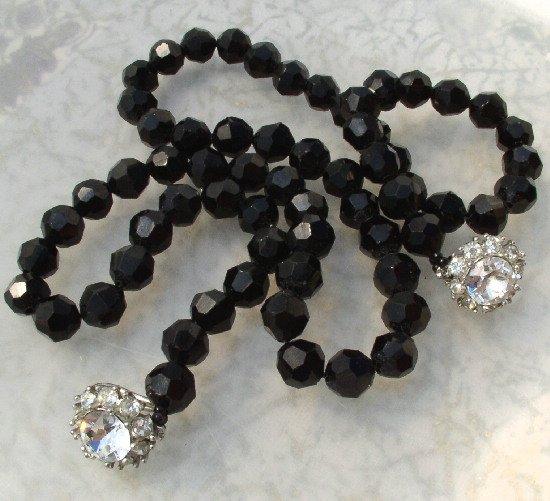 JUDITH McCANN Vintage FRENCH JET Necklace w/ Shuvon Clasp