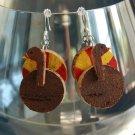 Turkey Wine Cork Earrings