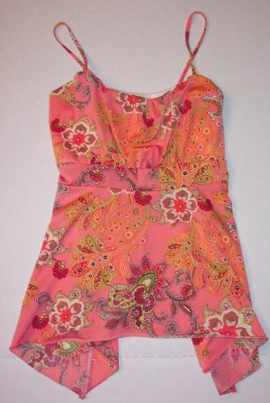 NEW Cant Miss Boho Hippie Babydoll Tunic Tank Top Sz M