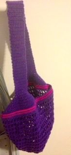 """""""Your Royal Highness"""" Purple Treble Stitch Bag w/ Pink Accents"""