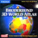 BRODERBUND 3D WORLD ATLAS